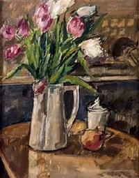 bodegón de tulipanes by antonio santos