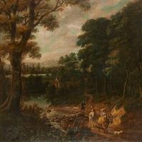 le départ pour la chasse aux faucons by flemish school (19)
