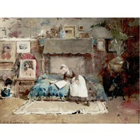studio interior by william turner dannat