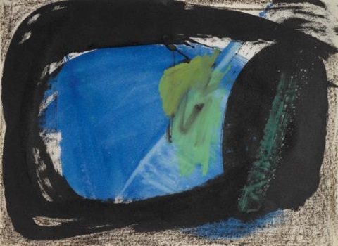 blue leaf by peter lanyon