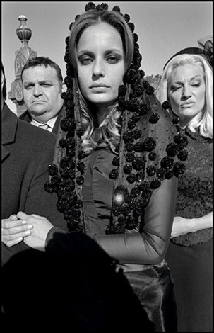 Untitled from Mafia funeral by BruceGilden