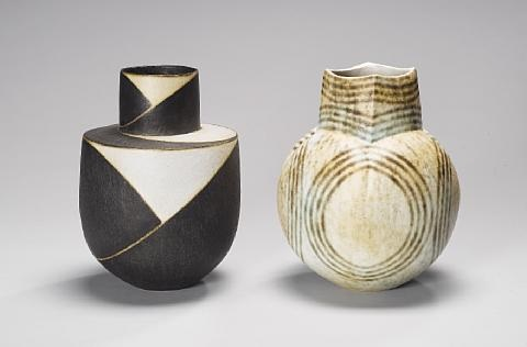 pot with conical neck by john ward