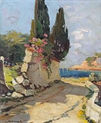 paysage méditerranéen by lucien potronat