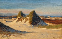 sylt landscapes with dunes by franz korwan