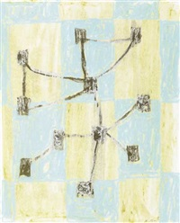 untitled (turquoise & brown knots) by john noel smith