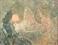 l'heure du thé by louis icart