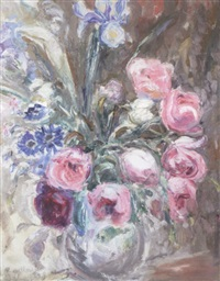 floral still life by florence engelbach