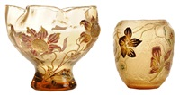 decorated vases (2 works) by émile gallé
