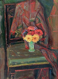 le bouquet sur la chaise by emile sabouraud