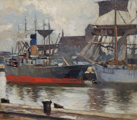 harbour of wismar by ernst liebermann