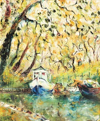 untitled (boats under the canopy) by tessa perceval