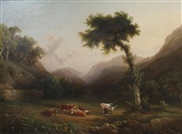 a cumberland landscape by philip hutchins rogers