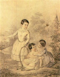 ritratto di tre bambini by napoleone mellini