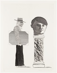 the student (from hommage à picasso) by david hockney