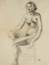 etude de femme nue assise by andré derain