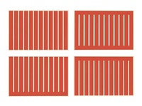untitled (set of 4) by donald judd