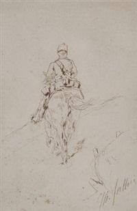 soldato a cavallo by giovanni fattori