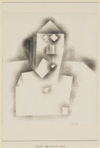 phÿsiognomisch-streng (physiognomic-severe) by paul klee