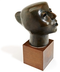 singing head (cabeza cantando) by elizabeth catlett