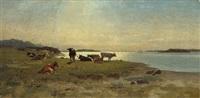kühe auf der weide by richard fresenius