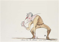 bush, drawn for al jazeera by gerald scarfe