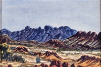 mt sonder, macdonnell ranges by otto pareroultja