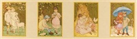 the seasons (4 works) by kate greenaway