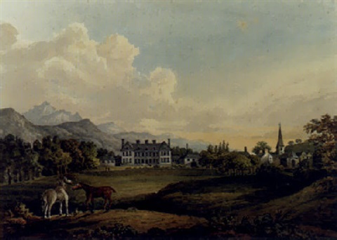 a view in killarney lord kenmares house by sir thomas gage
