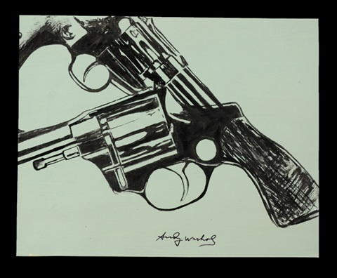 two guns 2 works by andy warhol