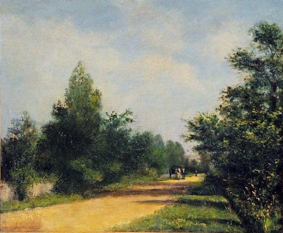 la charette sur la route by antoine chintreuil