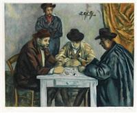 les jouers des cartes by paul cézanne