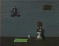 owl in the bathroom by gertrude abercrombie