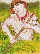 contadino by giuseppe migneco