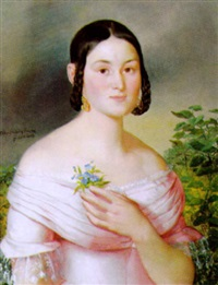 porträt einer jungen dame by franz dobiaschofsky