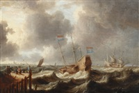 shipping in high seas by jan peeters