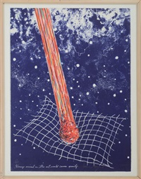 henry's arrival on the art world causes gravity by james rosenquist