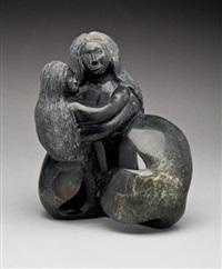 sea goddess and young by pitseolak niviaqsi