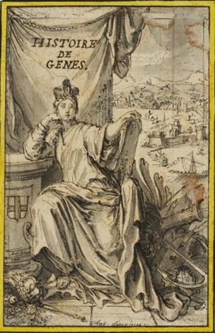 histoire de gênes project for a frontispiece by antoine dieu