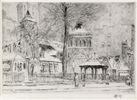 the little church around the corner by childe hassam