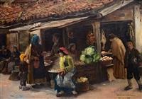 auf dem markt by wlodzimierz tetmayer