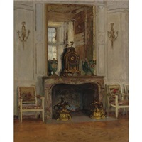 fireplace, palais de fontainbleau by walter gay