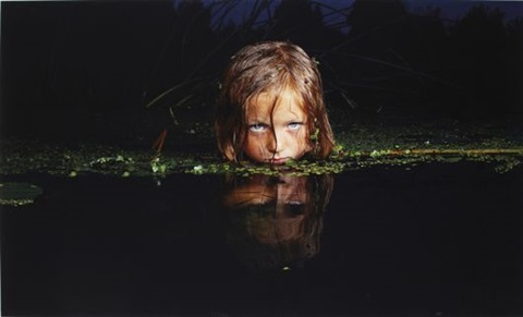 girl in a swamp by oleg kulik