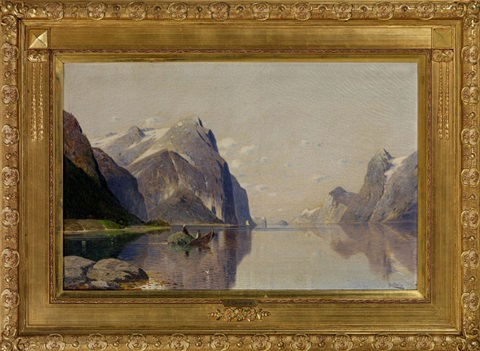 am hardangerfjord norwegen sommerlandschaft by fritz chwala