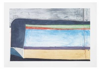 indigo horizontal by richard diebenkorn