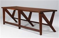 conference table (conference lecturne double) by pierre jeanneret
