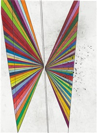 untitled (2 wings) by mark grotjahn