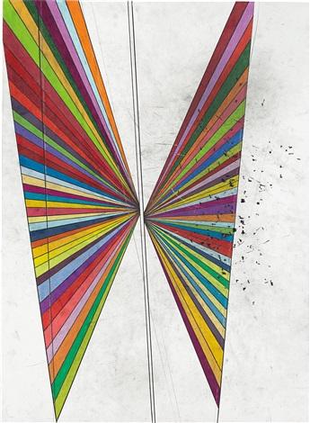 untitled 2 wings by mark grotjahn