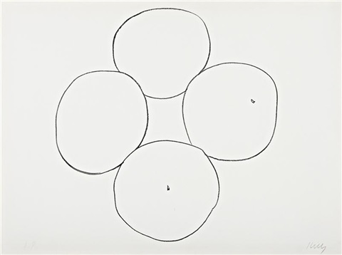 oranges from suite of plant lithographs by ellsworth kelly