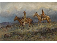 indians on horseback by henry raschen