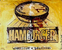hamburger by andy warhol and rupert smith